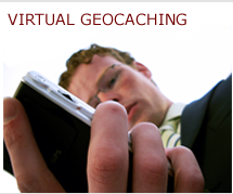 Virtual geocaching